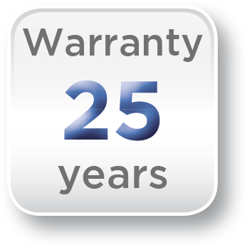 Icon - Chimney system is covered by a 25 year manufacturer's warranty